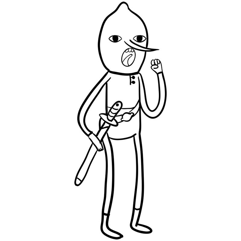 Learn easy to draw lemongrab step 09