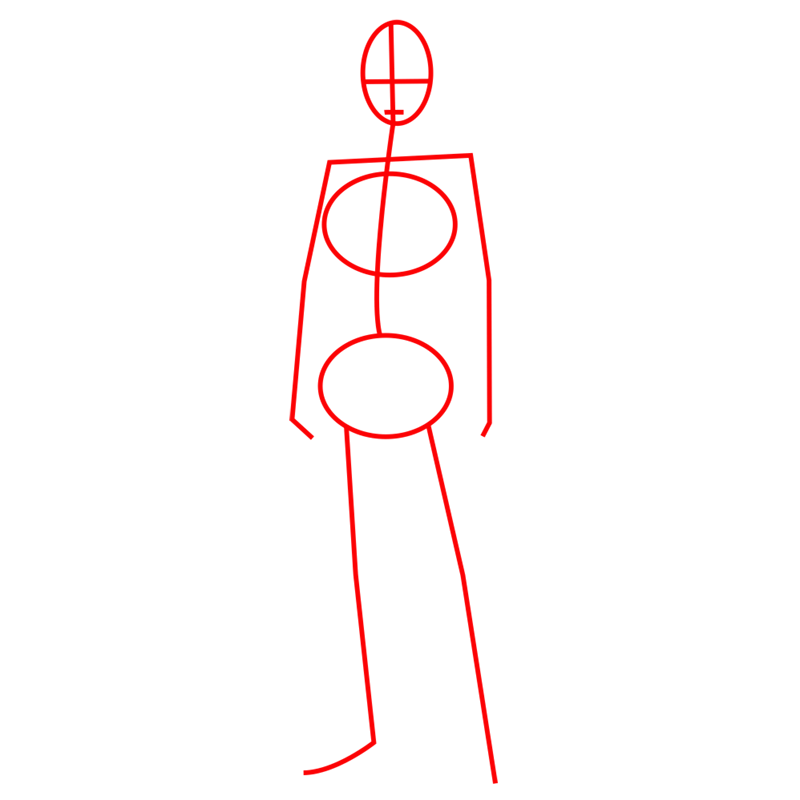 Learn easy to draw levi ackerman step 01