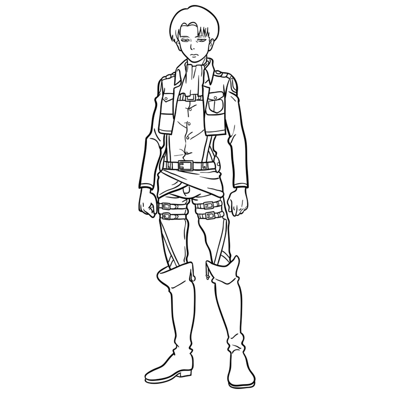 Learn easy to draw levi ackerman step 12