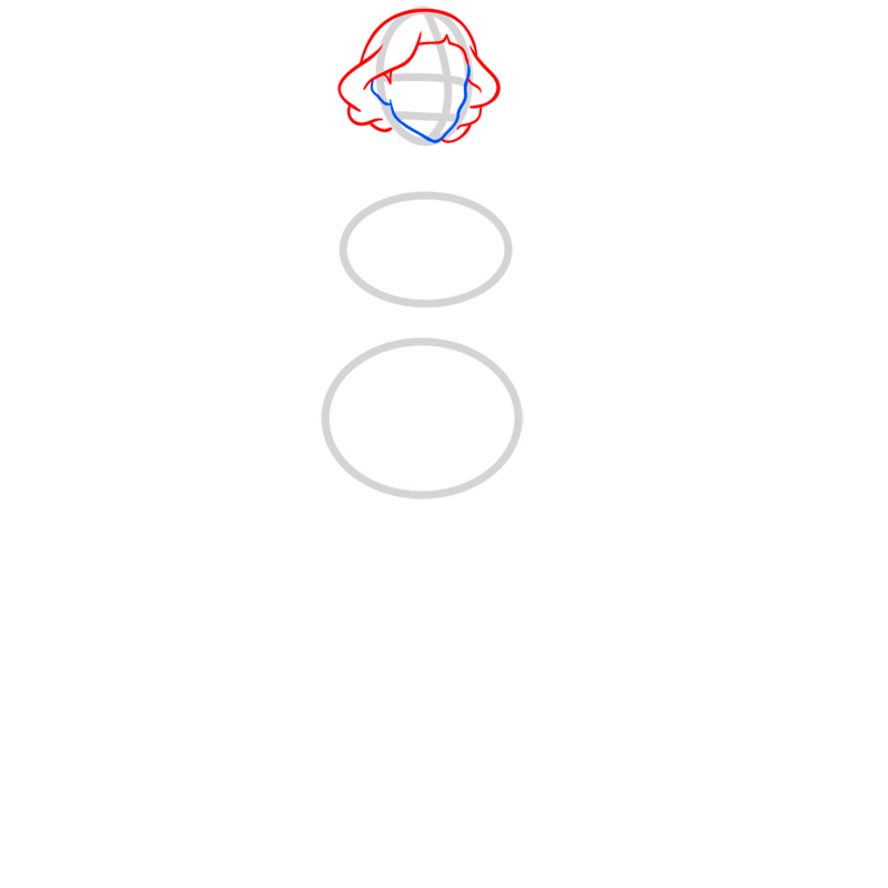 Learn easy to draw lin beifong step 03