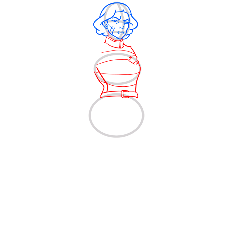 Learn easy to draw lin beifong step 05