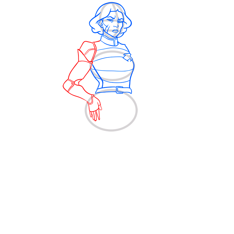 Learn easy to draw lin beifong step 06