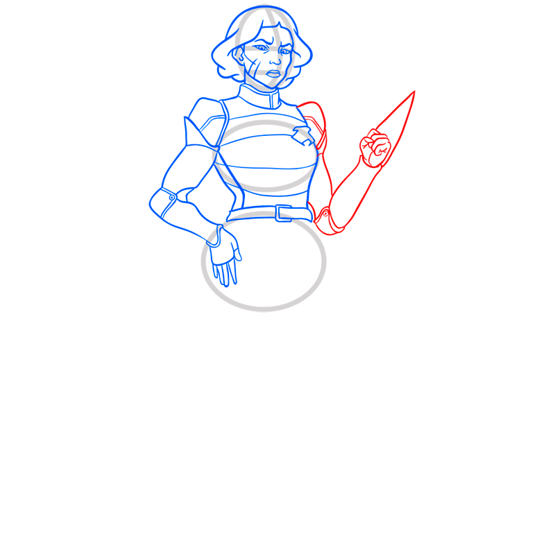 Learn easy to draw lin beifong step 07