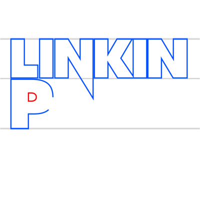 Learn easy to draw linkin park step 10