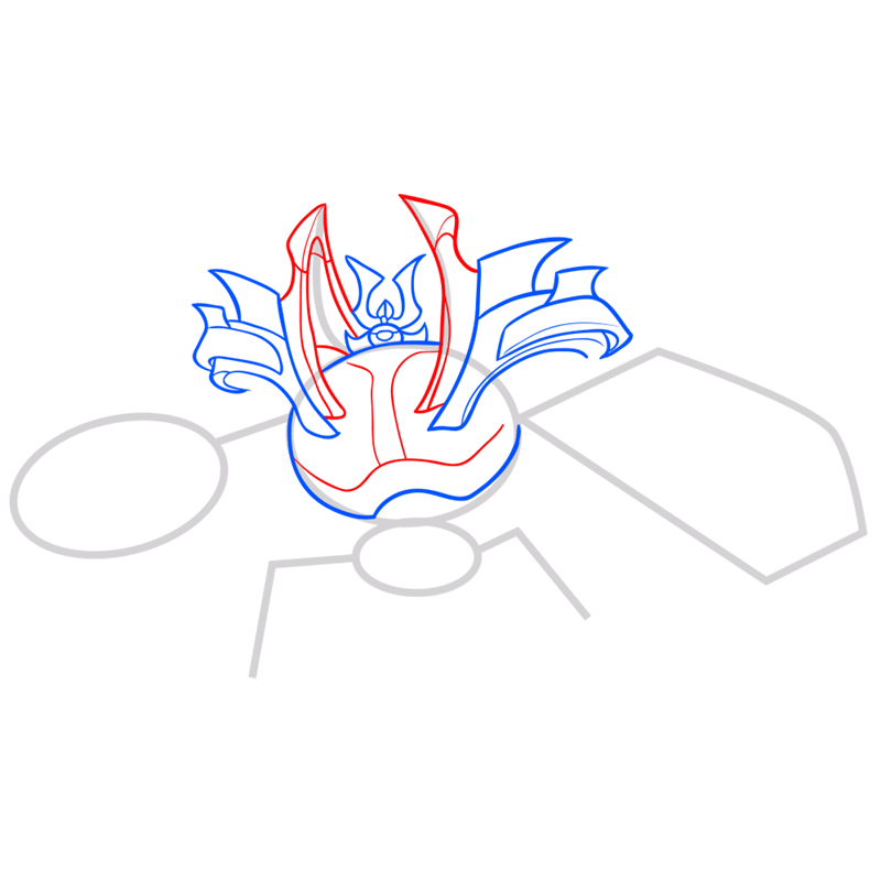 Learn easy to draw little yama step 05