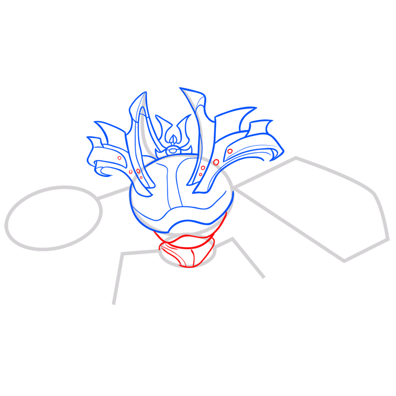 Learn easy to draw little yama step 06