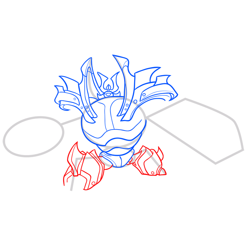 Learn easy to draw little yama step 07