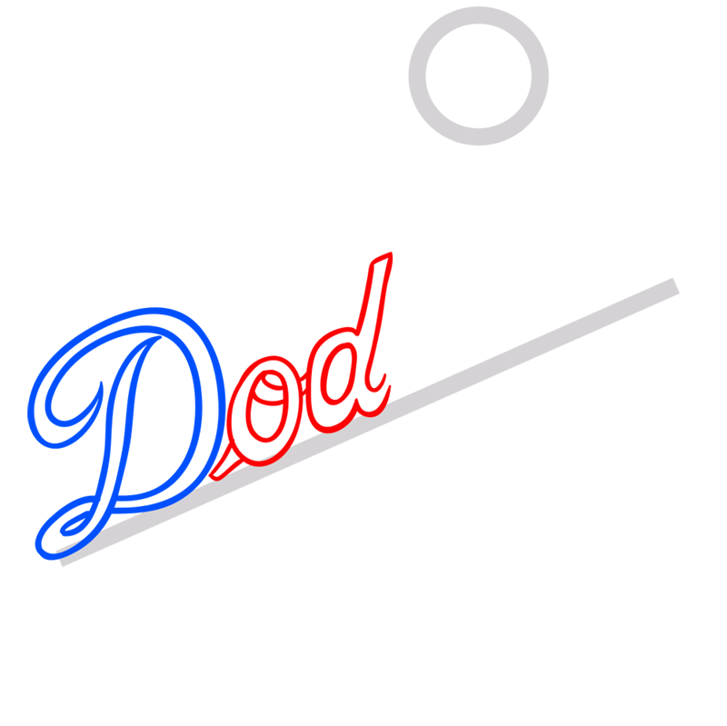 Learn easy to draw los angeles dodgers step 03