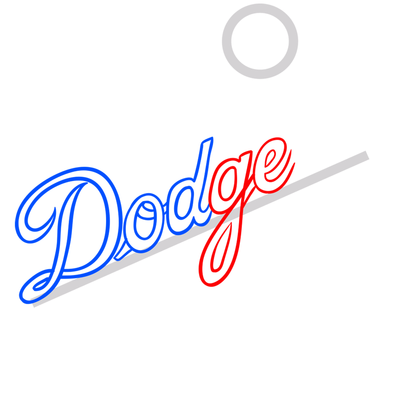 Learn easy to draw los angeles dodgers step 04