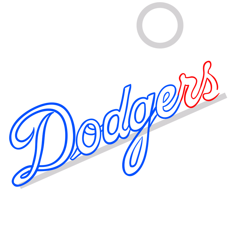 Learn easy to draw los angeles dodgers step 05