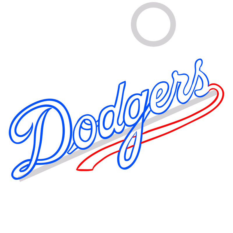 Learn easy to draw los angeles dodgers step 06