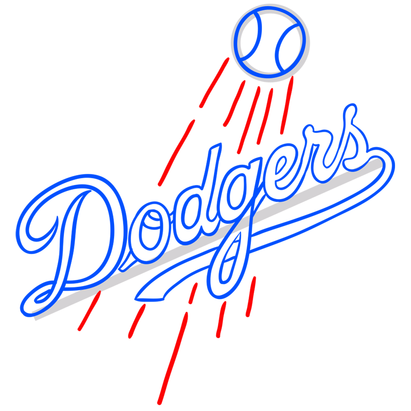 Learn easy to draw los angeles dodgers step 08