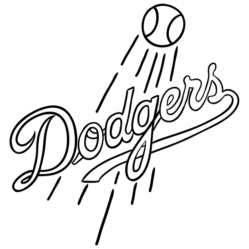 Learn easy to draw los angeles dodgers step 09