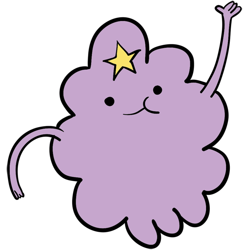 Learn easy to draw lumpy space princess step 00