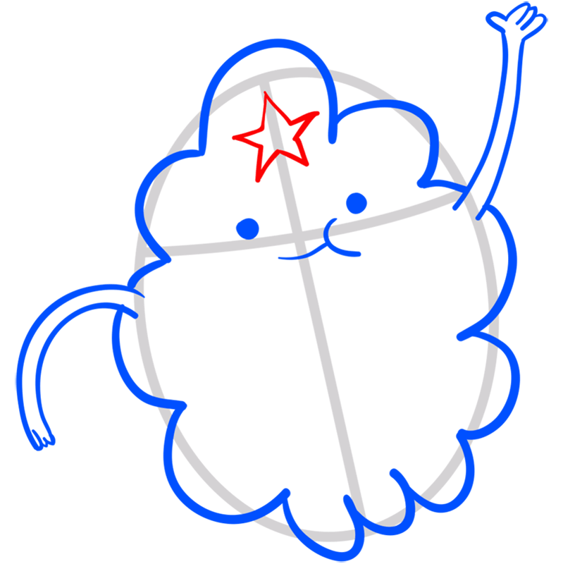 Learn easy to draw lumpy space princess step 07
