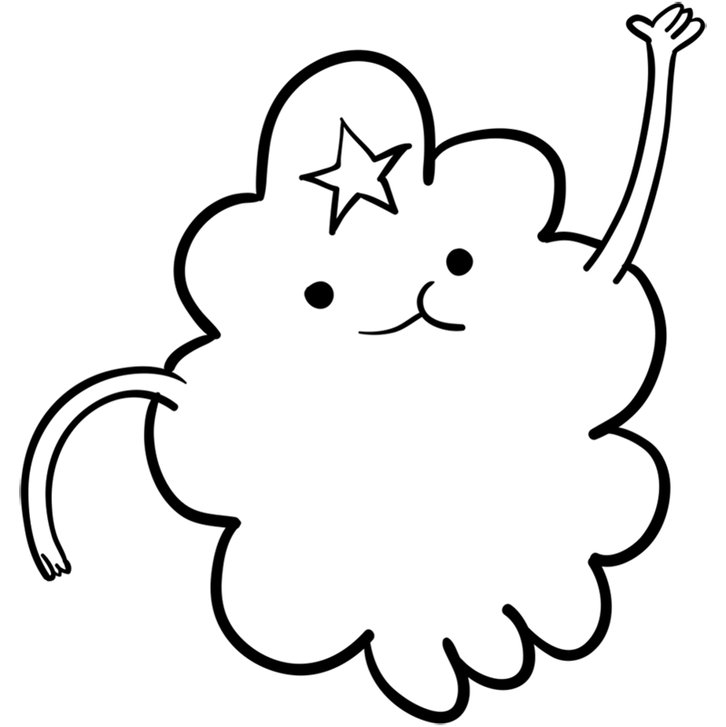 Learn easy to draw lumpy space princess step 08