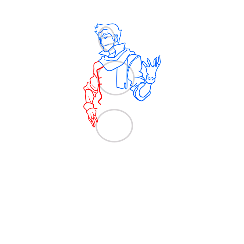 Learn easy to draw mako step 07