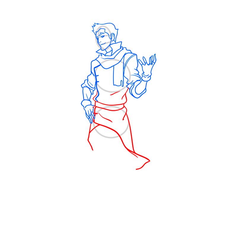 Learn easy to draw mako step 08