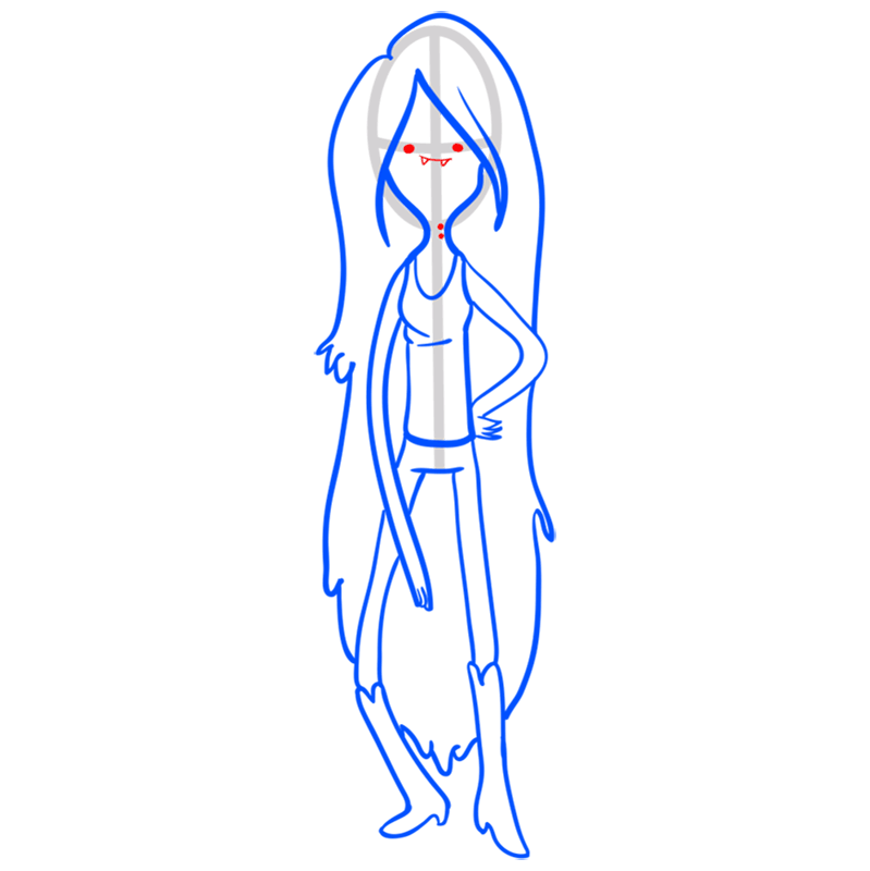 Learn easy to draw marceline step 10