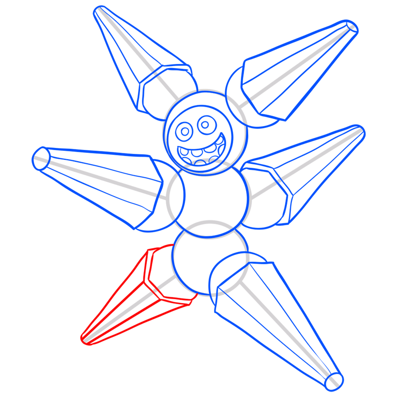 Learn easy to draw megabot step 10