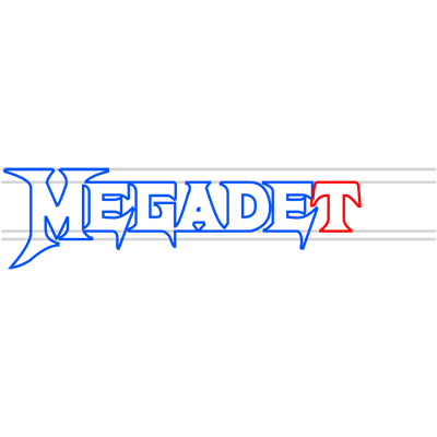 Learn easy to draw megadeth step 08
