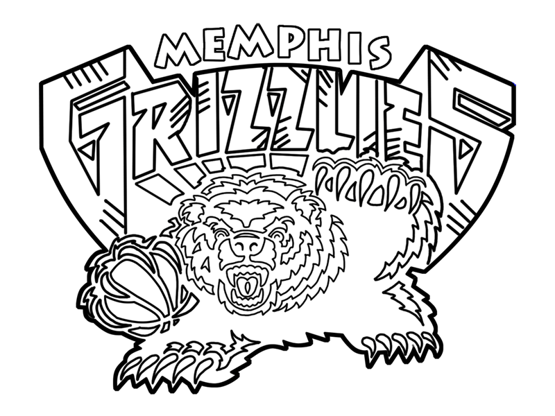 Learn easy to draw memphis grizzlies step 00