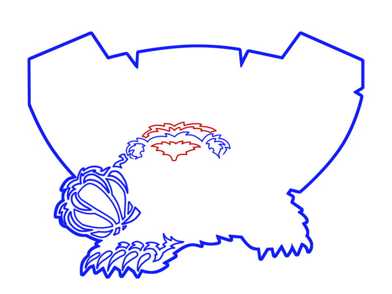 Learn easy to draw memphis grizzlies step 11