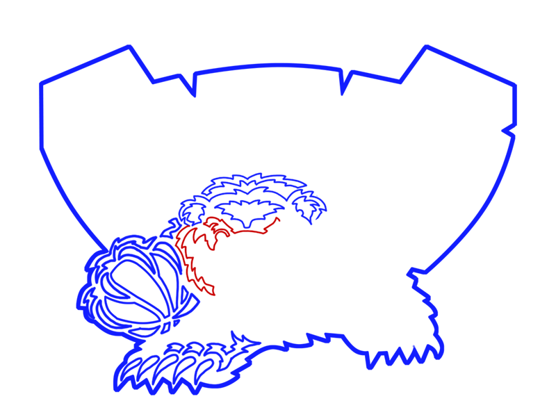 Learn easy to draw memphis grizzlies step 12