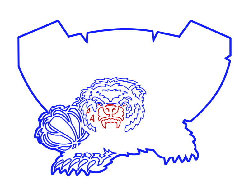 Learn easy to draw memphis grizzlies step 14