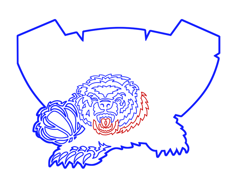 Learn easy to draw memphis grizzlies step 15