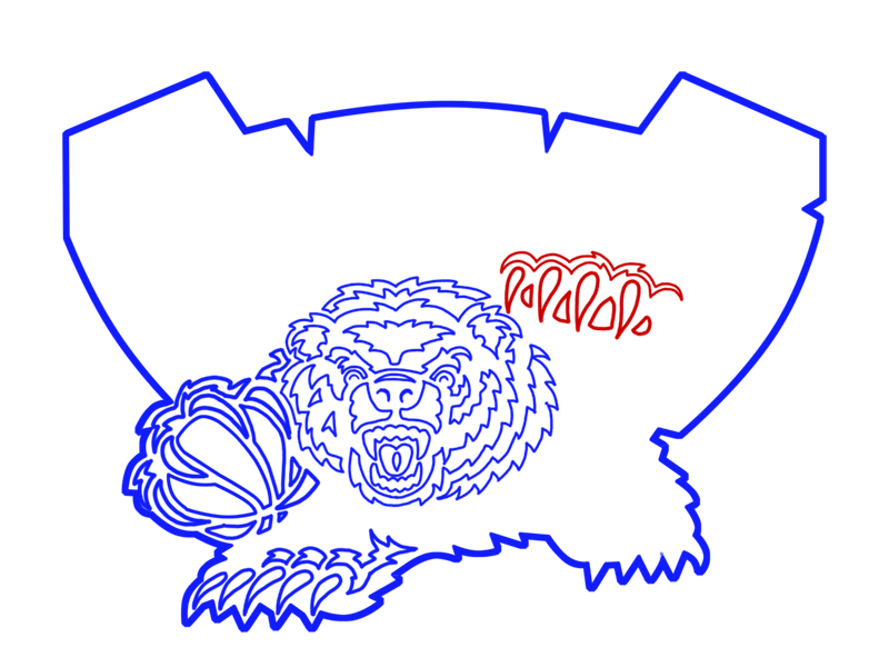 Learn easy to draw memphis grizzlies step 16