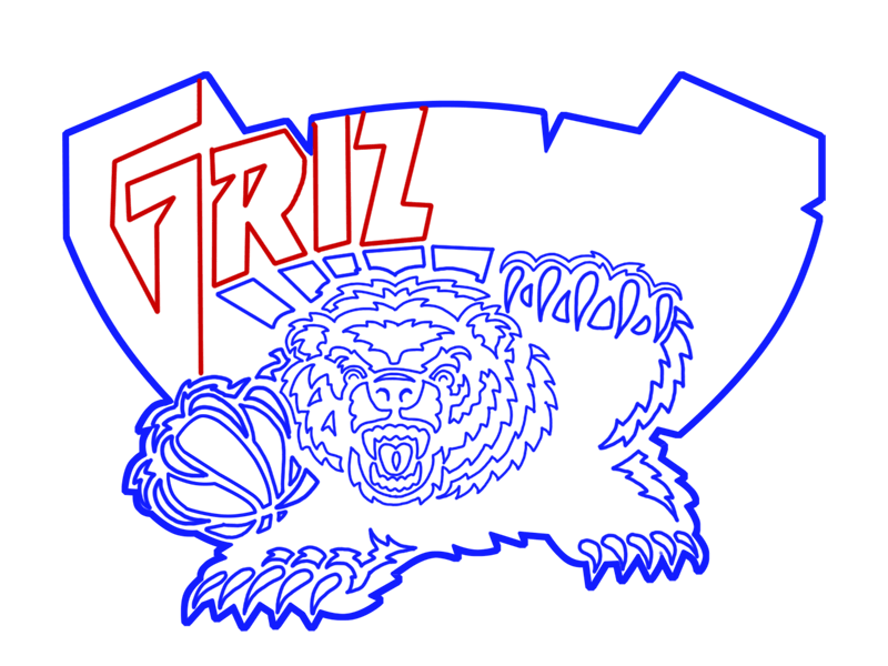 Learn easy to draw memphis grizzlies step 20