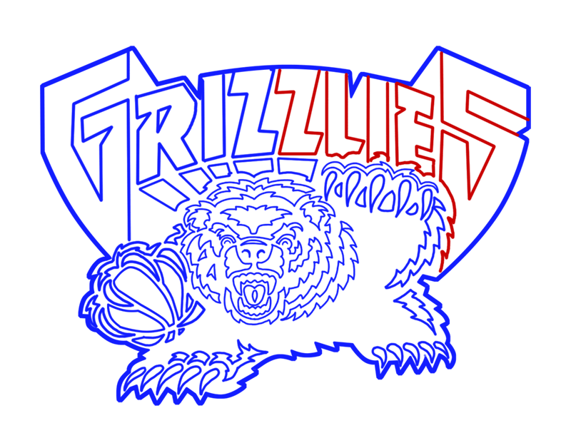 Learn easy to draw memphis grizzlies step 21