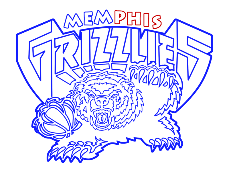 Learn easy to draw memphis grizzlies step 23