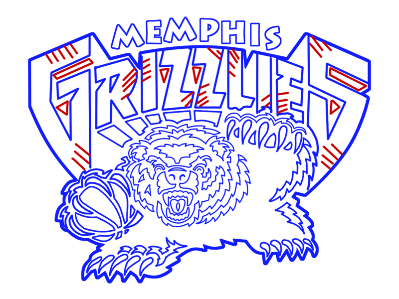 Learn easy to draw memphis grizzlies step 24