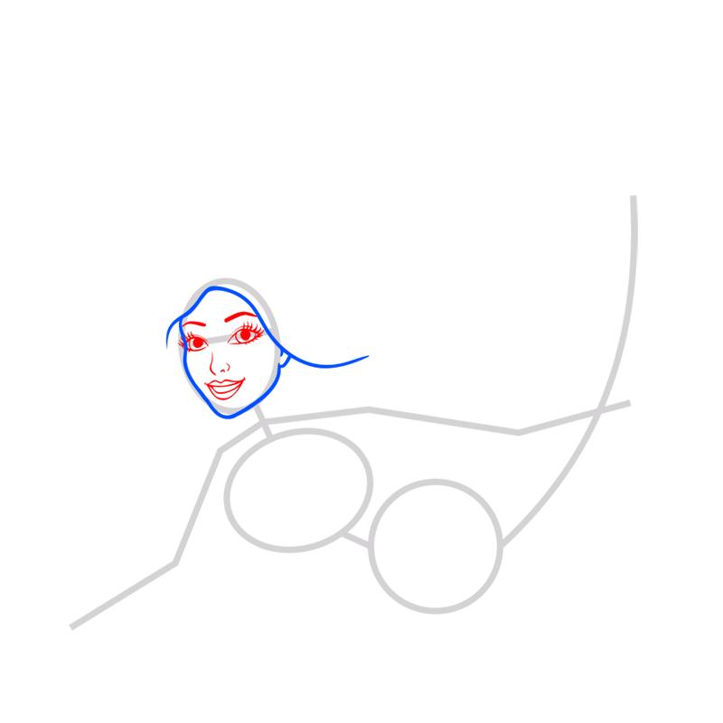 Learn easy to draw merliah step 03