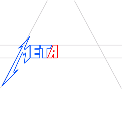 Learn easy to draw metallica step 06