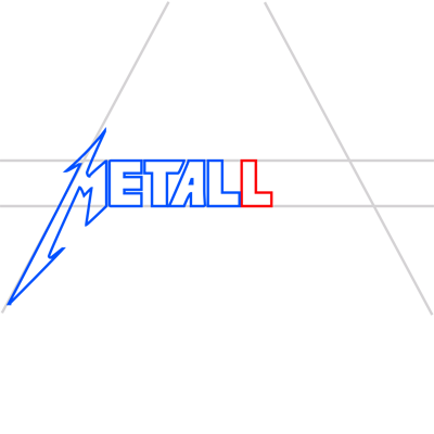 Learn easy to draw metallica step 08