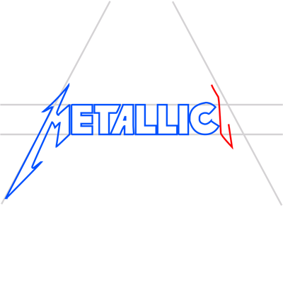 Learn easy to draw metallica step 11