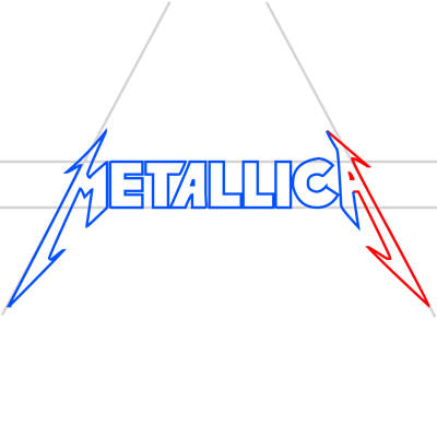 Learn easy to draw metallica step 12