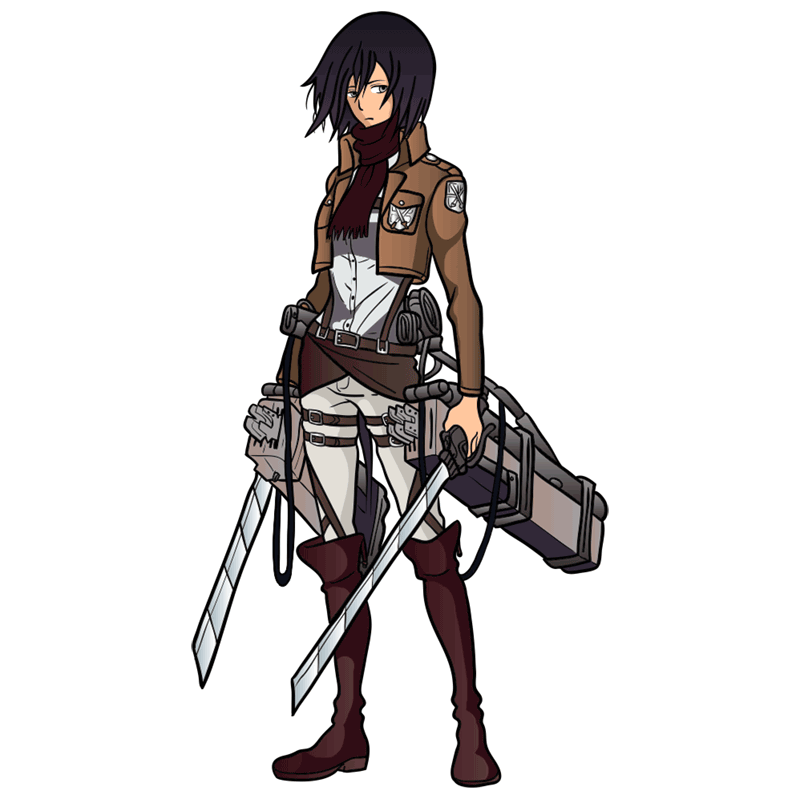 Learn easy to draw mikasa ackerman step 00