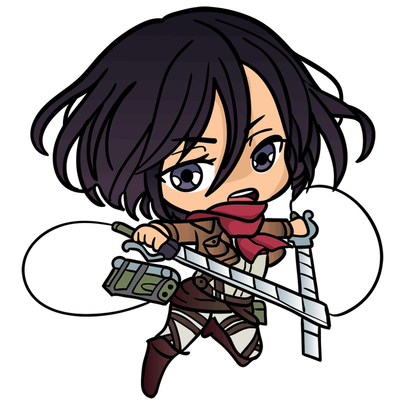 Learn easy to draw mikasa chibi step 09