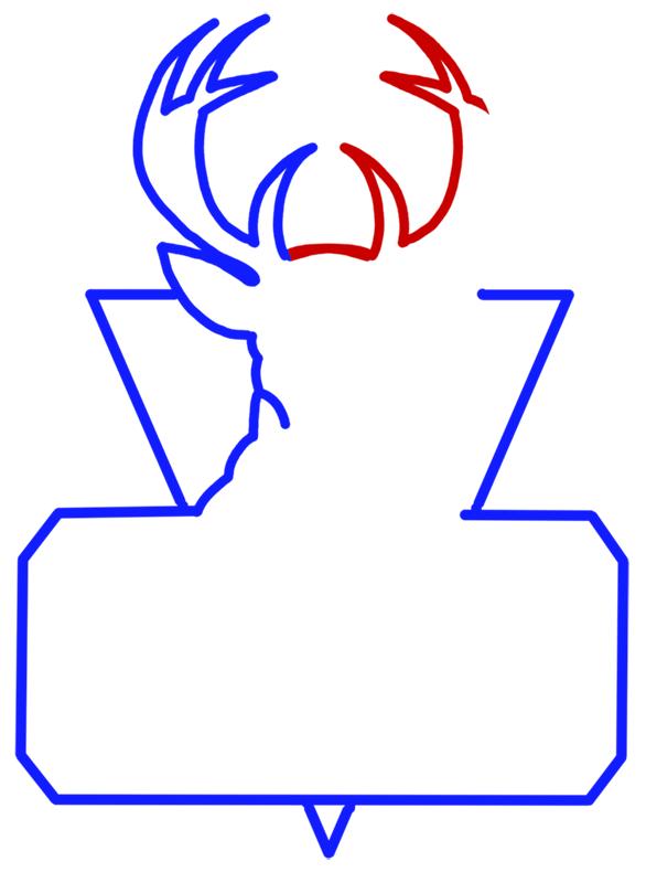 Learn easy to draw milwaukee bucks step 05