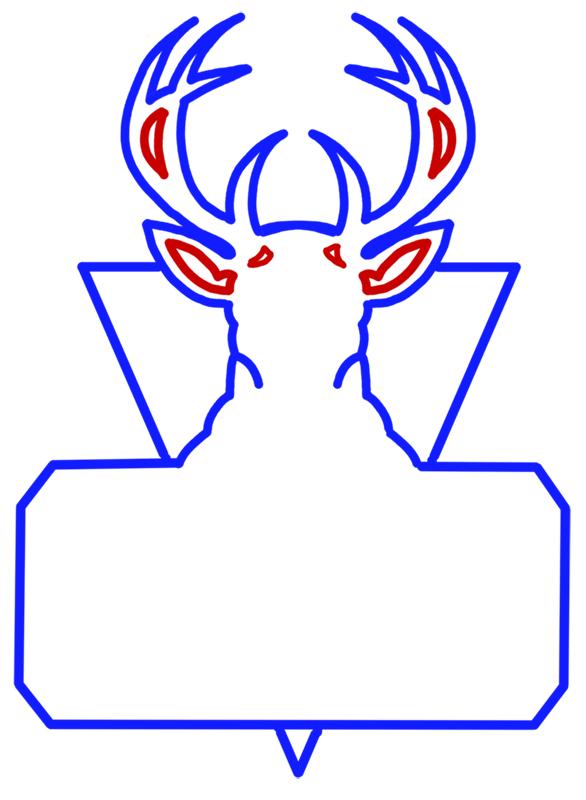 Learn easy to draw milwaukee bucks step 07