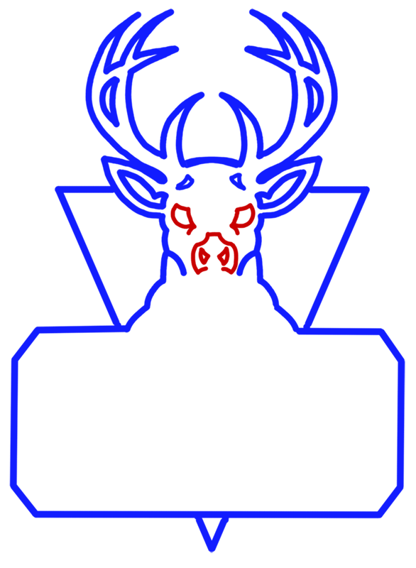 Learn easy to draw milwaukee bucks step 08