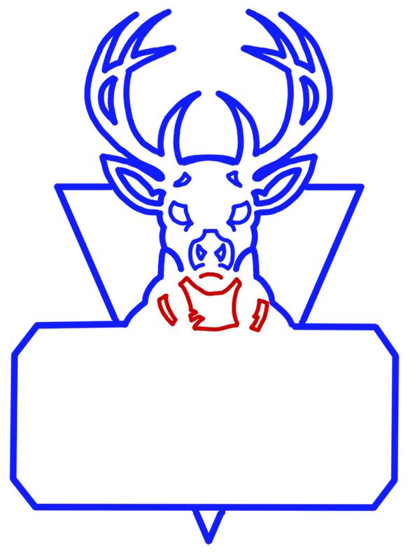 Learn easy to draw milwaukee bucks step 09