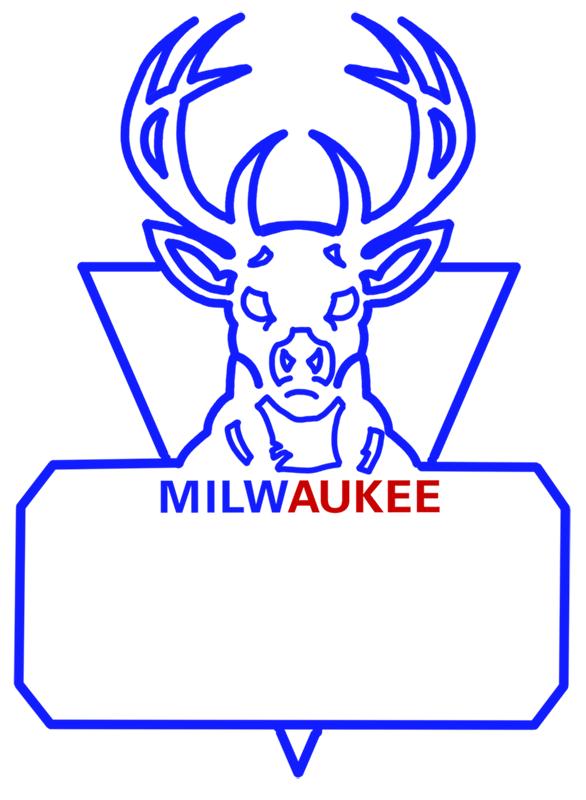 Learn easy to draw milwaukee bucks step 11