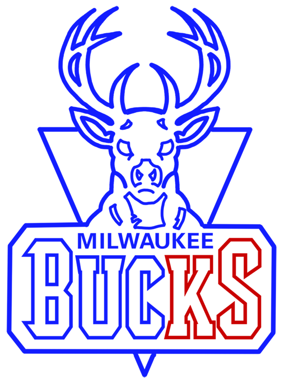Learn easy to draw milwaukee bucks step 13