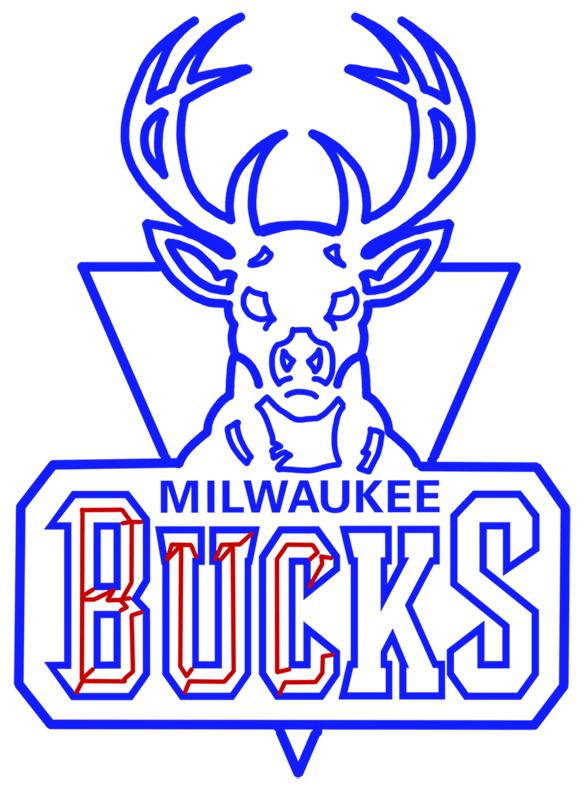 Learn easy to draw milwaukee bucks step 14