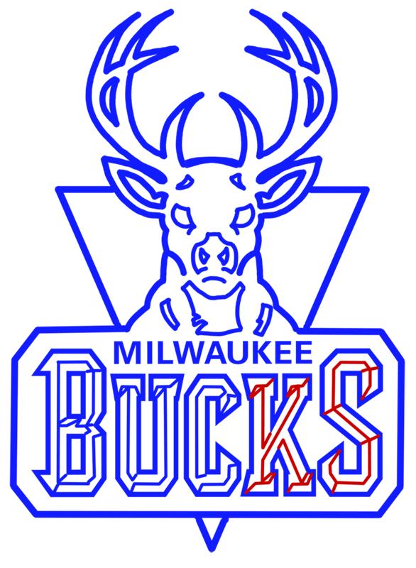 Learn easy to draw milwaukee bucks step 15